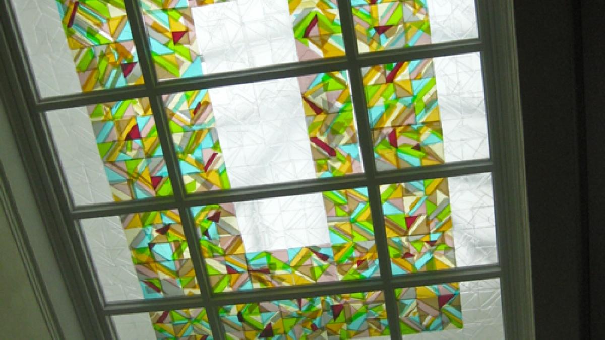 Carlson art in Schaeffer Hall