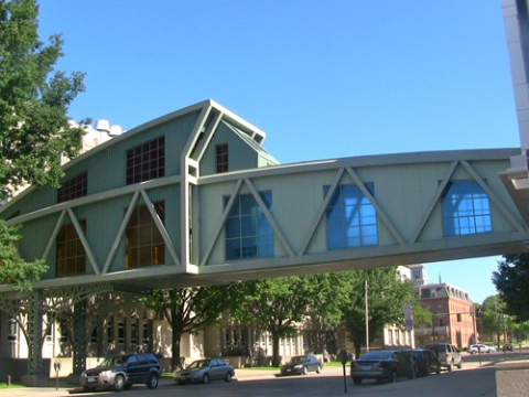 Armajani Biology Building bridge