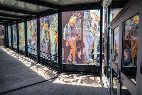 Delgado art at Catlett Residence Hall