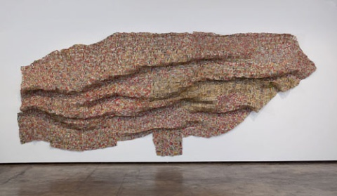 Anatsui art at Hancher Auditorium