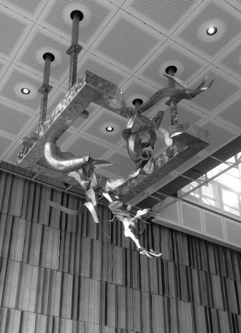 Hunt art at Voxman Music Building