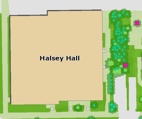 Location of American Conifer Society recognized Conifer Reference Garden Dancer's Garden, located on the East side of Halsey Hall
