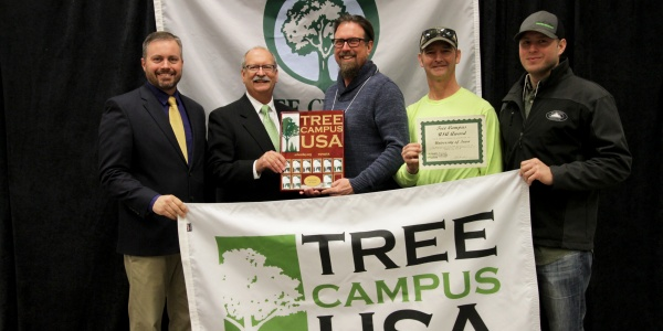Landscpe Services with Tree Campus USA 2018 award