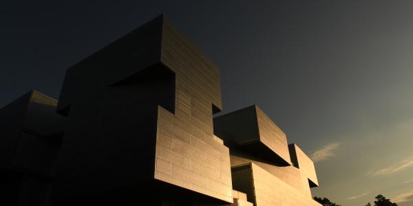 Visual Arts Building exterior at dusk