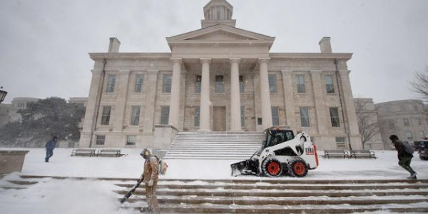 Landscape Services snow removal crew