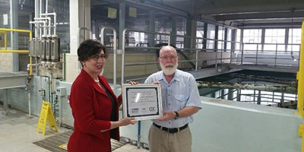Fluoridation award at UI water plant