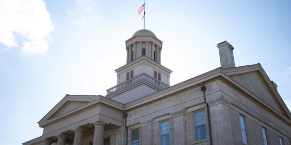 The Old Capitol Building is seen on Monday, March 1, 2021.