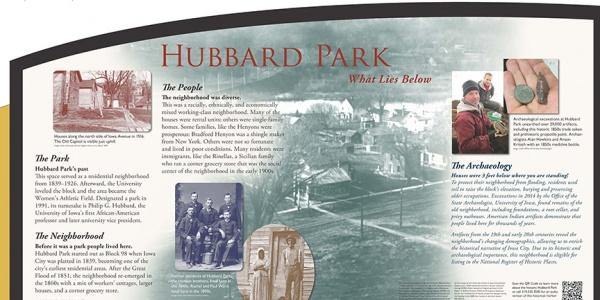Hubbard park historical marker sign