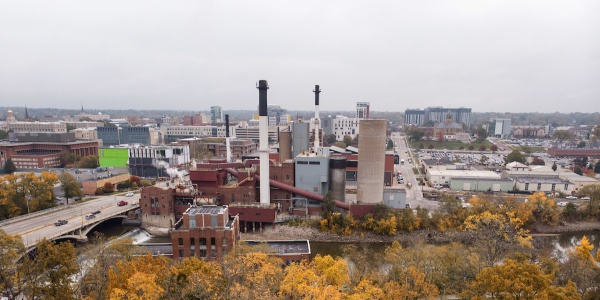 UI power plant photographed from a drone