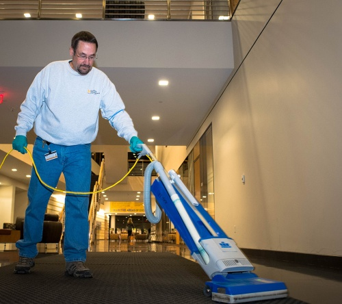 Cleaning crew vacuum