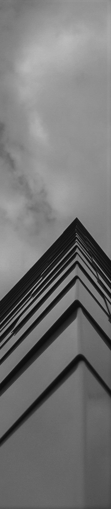 Decorative building exterior black and white